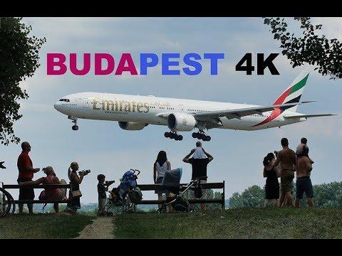 Plane Spotting at Budapest Airport BUD - 4K