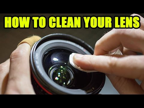 HOW to CLEAN your LENS on your CAMERA