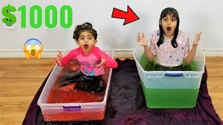 LAST KID TO LEAVE THE SLIME PIT WINS $1000 Challenge!!