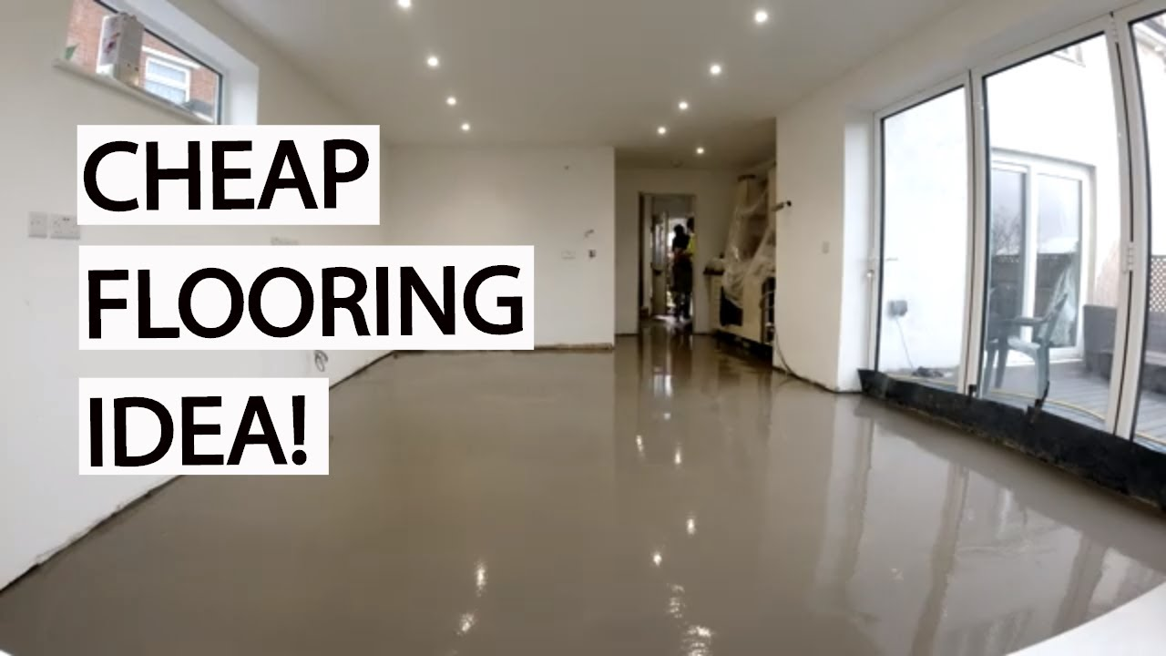 cheap flooring idea kitchen renovation update