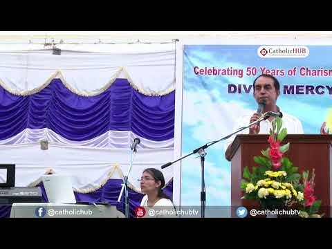"""Word of god by Bro Glan & Sis Therisa @ """"DIVINE MERCY CONVENTION"""" Holy Masss@ Our Lady of Lourdes Ch"""