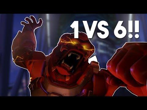 xQc 1v6 WINSTON TEAMKILL- Epic Overwatch Series #21