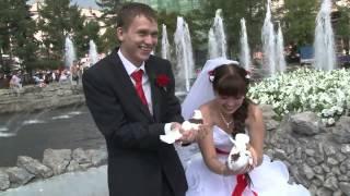 Свадьба на природе с голубями!