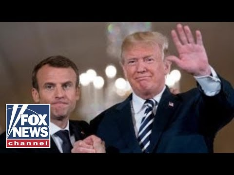 Presidents Trump, Macron wrapping up state visit