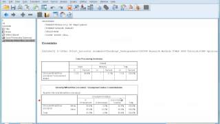 SPSS Tutorial 7 - Using Percentages in Cross-tabulations