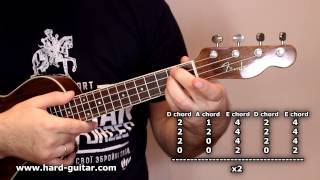 Скачать AC DC Back In Black Ukulele Lesson How To Play Tutorial With Tabs Chords And Lyrics Angus Young