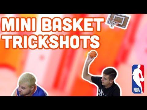 EPIC NBA MINI BASKETBALL TRICKSHOTS 2   MonG