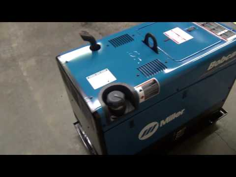 Miller Bobcat 225 welder generator unboxing and first weld
