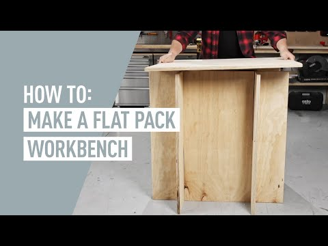 DIY Workbench Flat Pack Style - Ozito DIY Projects