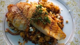 Mediterranean Quinoa with Red Drum Fish