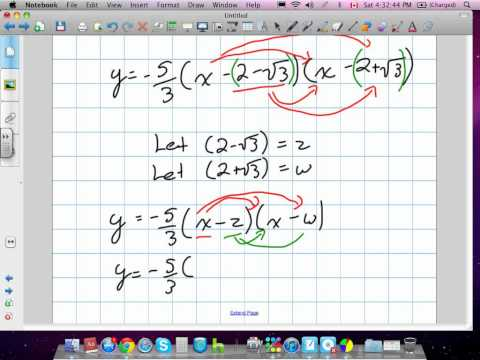 Quadratic Functions (Grade 11 University Chapter 3 Review 4:22:12).mov