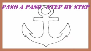 Como dibujar una Ancla paso a paso l How to draw a Anchor step by step