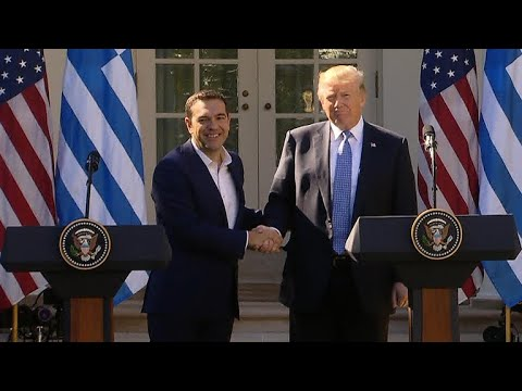 """President Trump holds news conference with Greek PM who once called him """"evil"""""""