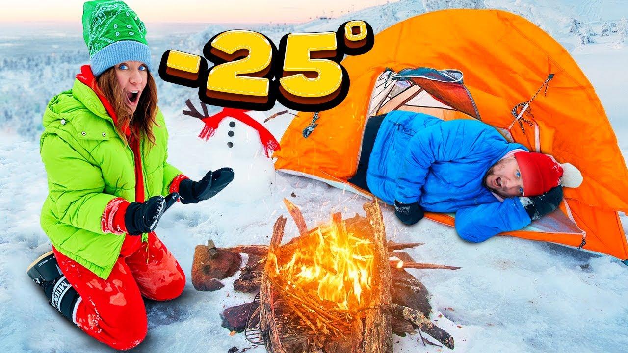24 Часа В Снежном ЛАГЕРЕ ЧЕЛЛЕНДЖ ! Пройди ВСЕ ЗАДАНИЯ, Чтобы ВЫЖИТЬ !