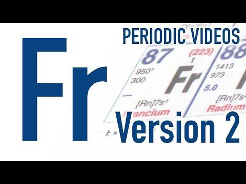 Francium (version 2) - Periodic Table of Videos