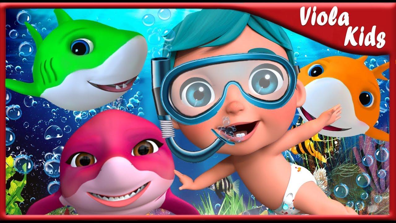 Baby Shark Dance | Sing and Dance! | Shark Songs | Viola kids Nursey Rhymes Songs for Children [4k]
