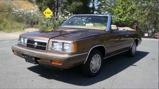 1986 Dodge 600 K-CAR Turbo Convertible coupe