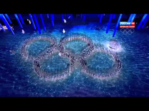 видео: церемония закрытия олимпийских игр 2014 нераскрытие кольца