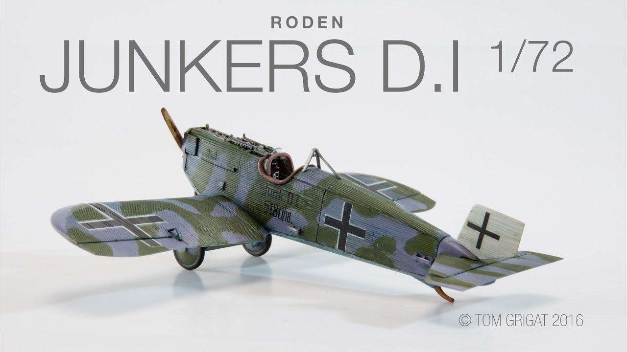 Roden Junkers D I 1 72 Wwi Alu Monoplane Youtube