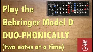 """How to """"upgrade""""  the Behringer Model D to a duophonic synth"""