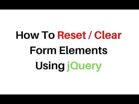how to reset clear form elements using jquery 3.3.1 thumbnail
