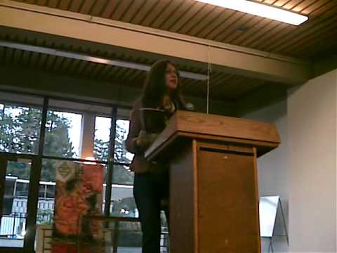 Ana Castillo reads at UC Berkeley (1 of 4)