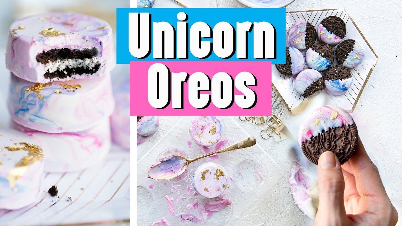 White Chocolate Dipped Unicorn Oreos Recipe