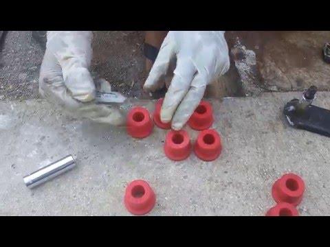 How to replace front suspension & stabilizer bushing (Suzuki Samurai)