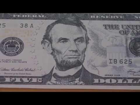 Wer war Abraham Lincoln ? - Der 5 US-Dollar Schein