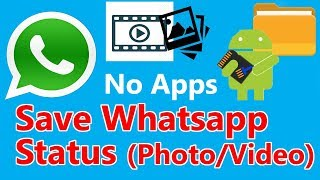 Save whatsapp status and instagram DP without any third party apps