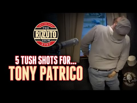 Patrico loses his 5th week of NFL picks! How well does he handle 5 TUSH shots? [Rizzuto Show]