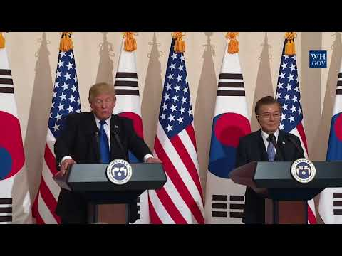 President Trump Participates in a Joint Press Conference with President Moon