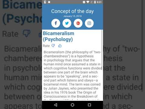 Concept of the Day: Bicameralism (Psychology)