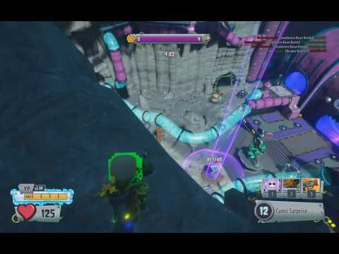PvzGW2 - parkour locations: moon base refinery garden with soldier