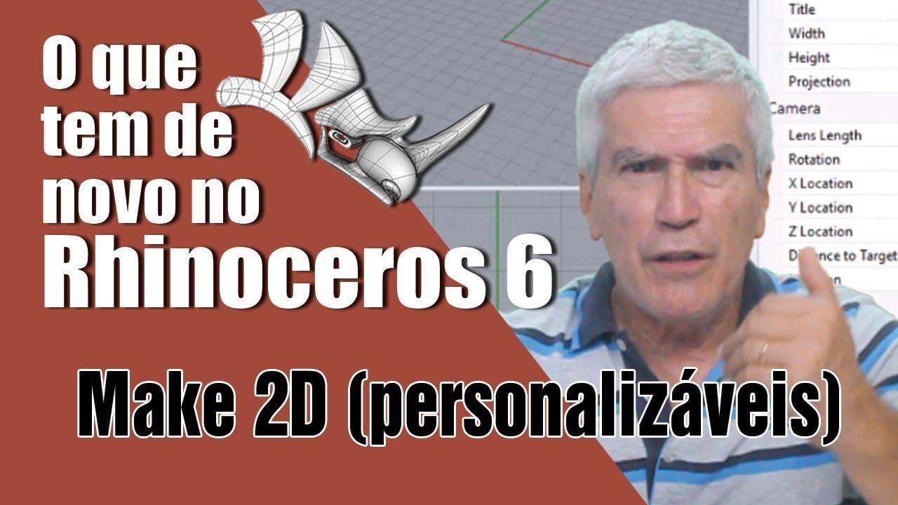 Make2D - O desenho técnico no Rhinoceros