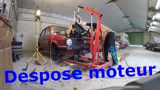 Restauration Golf 1 - Dépose moteur - 🔧2