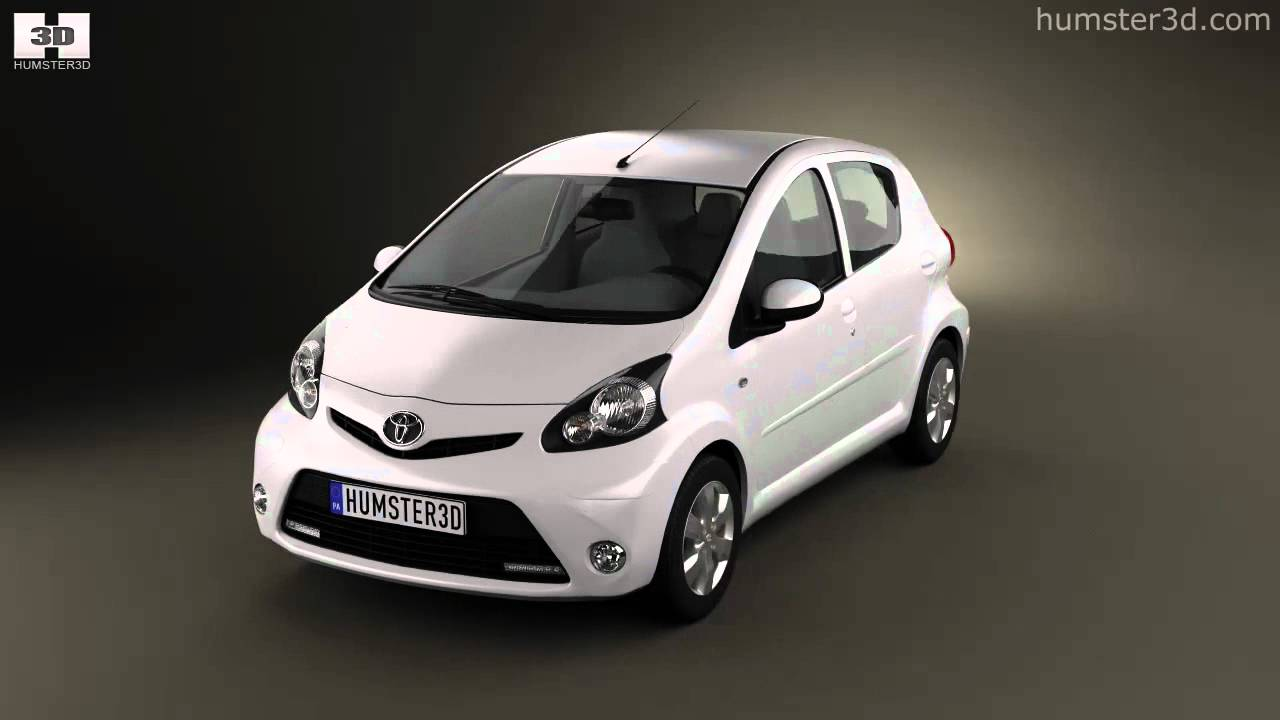 Toyota Aygo 5 Door 2013 By 3d Model Store Humster3d Com