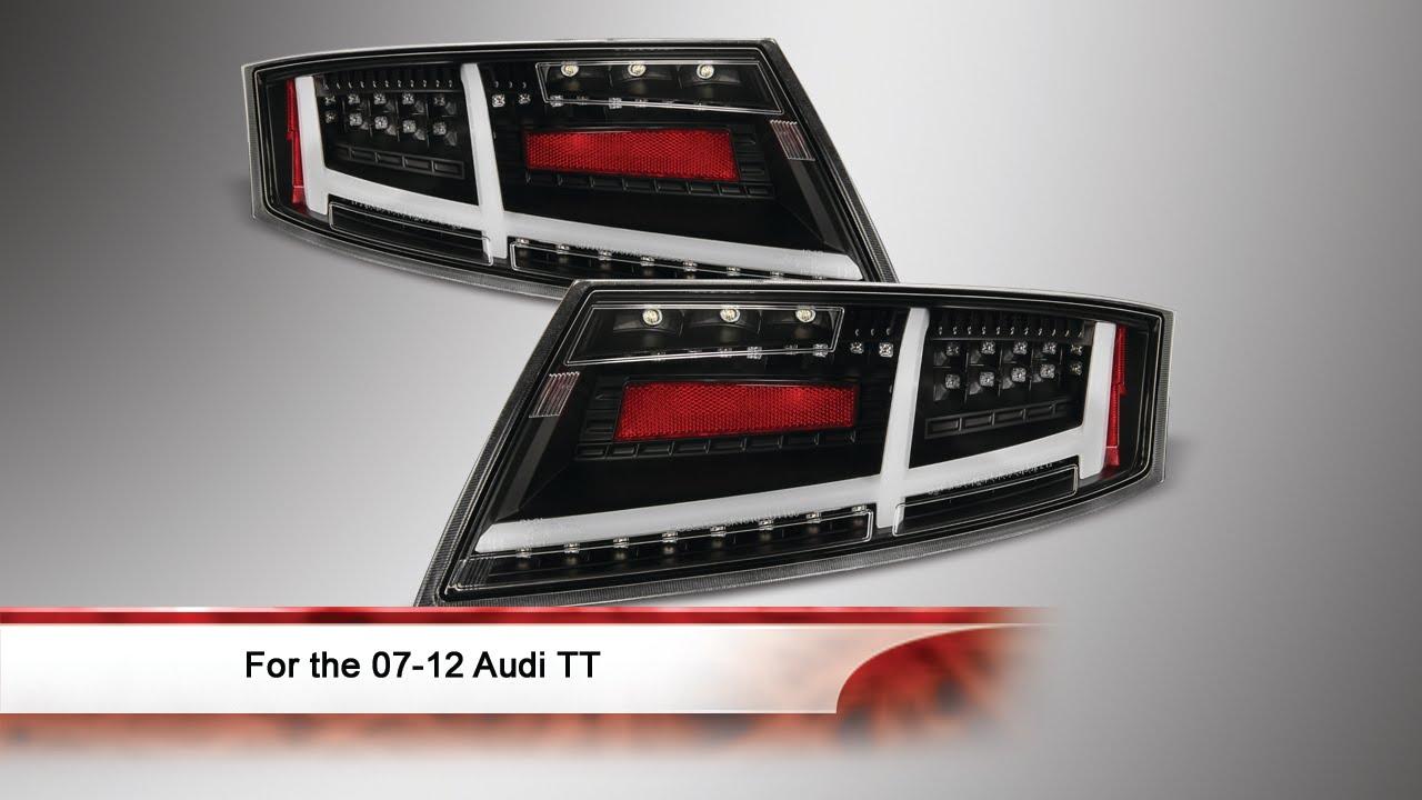 07-12 Audi TT LED/Light Bar Tail Lights - YouTube