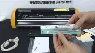 How to Set up and install the GCC Expert 24 Vinyl Cutter from The Rhinestone World