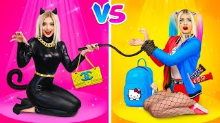 HIGH School VS Lower SCHOOL Superhero!   Comic Situations with Sneaking Sweets and Makeup by RATATA