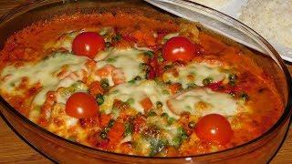 Куриная грудка с овощами в сливочном соусе. ОБЕД НА РАЗ ДВА И ГОТОВО)