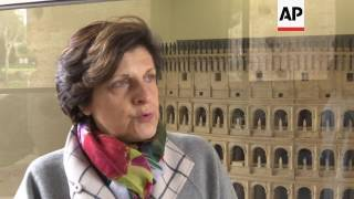 Exhibition of restored items from Rome's Colosseum go on show