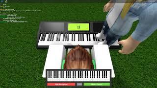 Campo virtual do cruzamento do piano de Roblox
