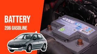 [ TUTORIAL GASOLINE PEUGEOT 206 ] How to change the battery