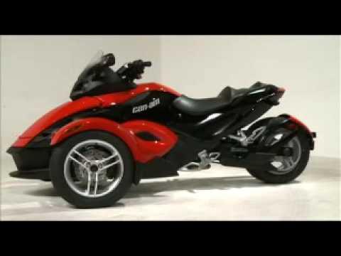 Can am spyder 3 wheeled bike youtube for Three wheel motor bike in india