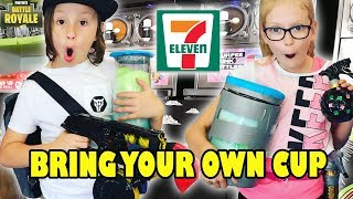 EPIC FORNITE SLURPEE At 7-11 | 7-ELEVEN BRING YOUR OWN CUP DAY