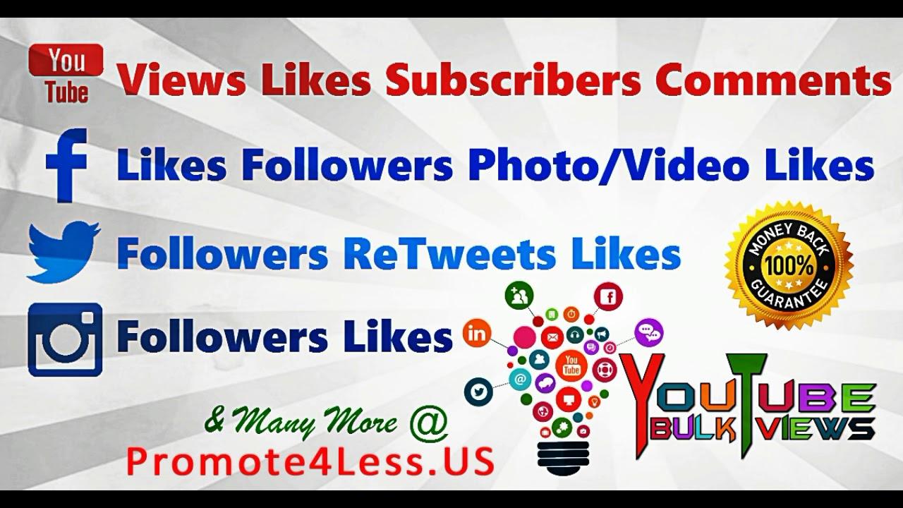 Get Instagram Followers Facebook Likes Youtube Views Twitter