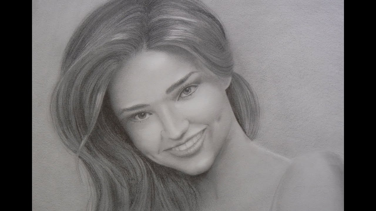 Miranda kerr portrait how to draw a portrait with smile and teeth youtube
