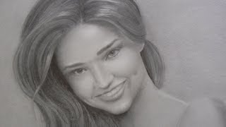 Miranda Kerr Portrait - How to Draw a Portrait With Smile and Teeth