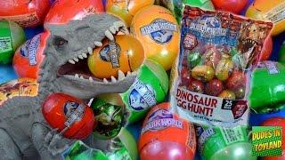 dinosaur surprise eggs jurassic world toy easter egg hunt dino toy videos for kids 장난감 공룡 알